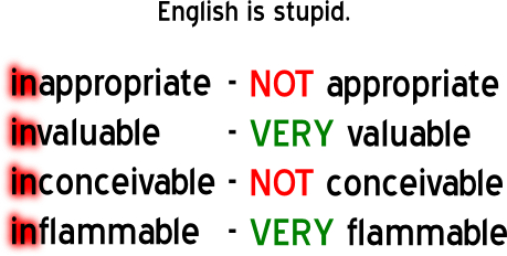 English is stupid