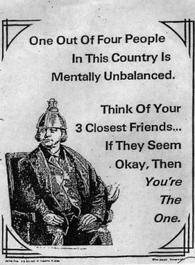Mentally unbalanced