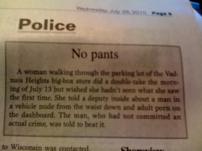 Police blotter beat it