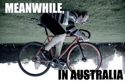 Bicycle upside-down Australia