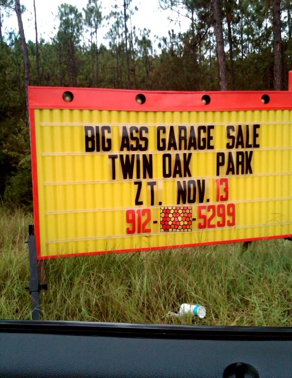 Big ass garage sale