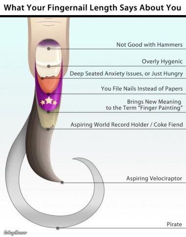 Fingernail length