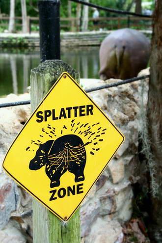 Splatter zone
