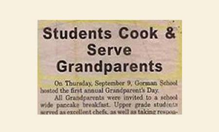 Students cook grandparents