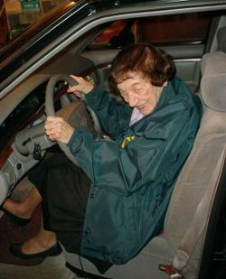 Grandma drives