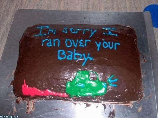 Sorry baby cake