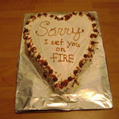 Sorry i set u on fire
