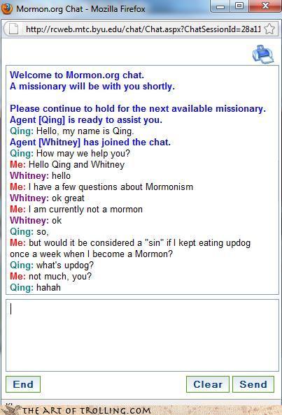 Mormon chat