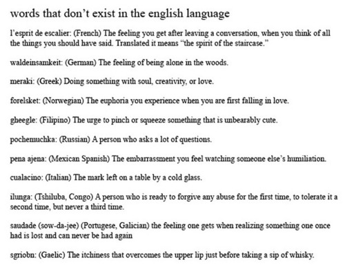 Words that don't exist in the English language   Bits and Pieces