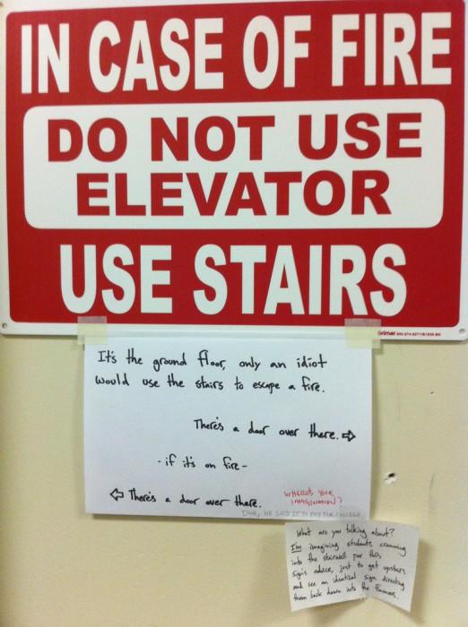 Do not use elevator