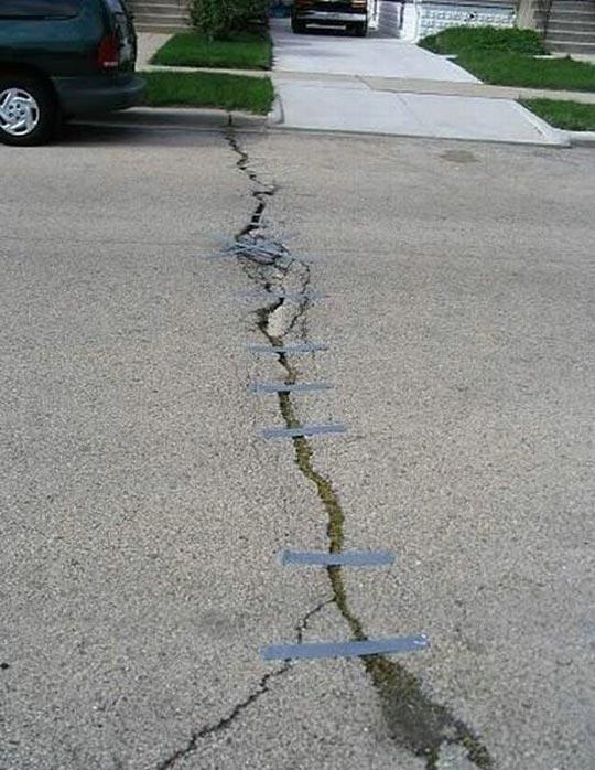 Duct tape fixes crack