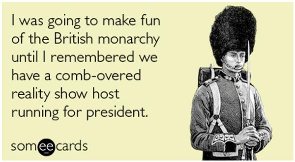 Making fun of monarchy