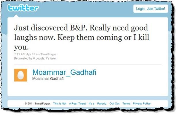 Tweet forger moammar