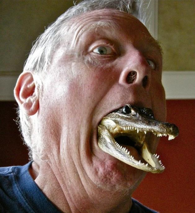 Grandpa and the gator