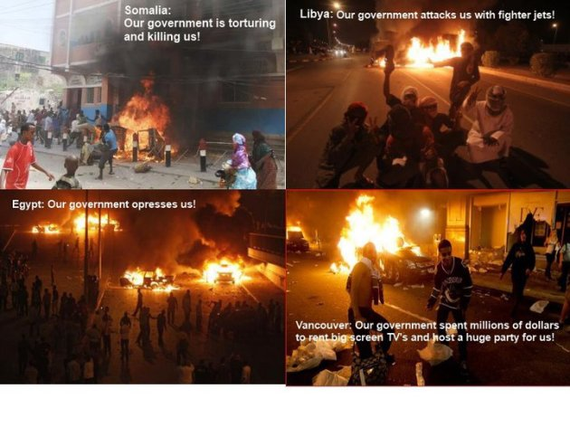 Rioting reasons