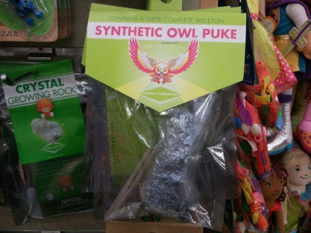 Synthetic owl puke