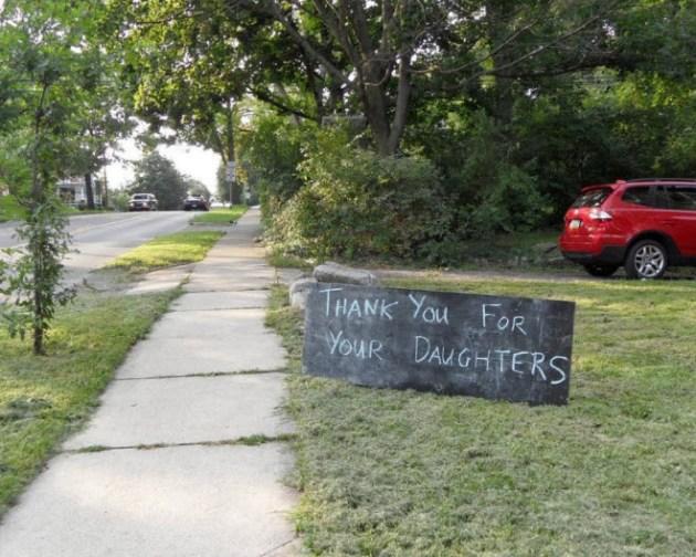 Frat house sign