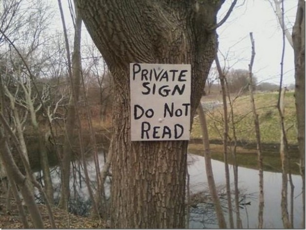 Private sign2