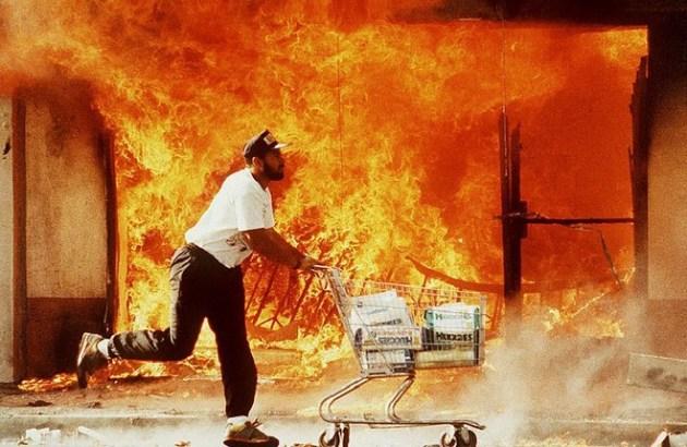 Fire shopping cart