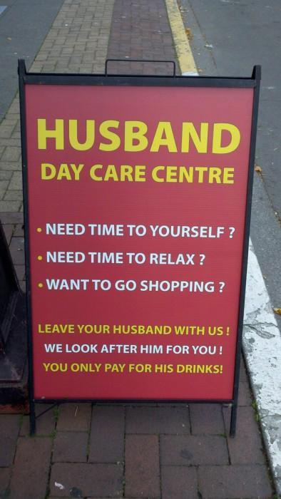 Husband-day-care-center