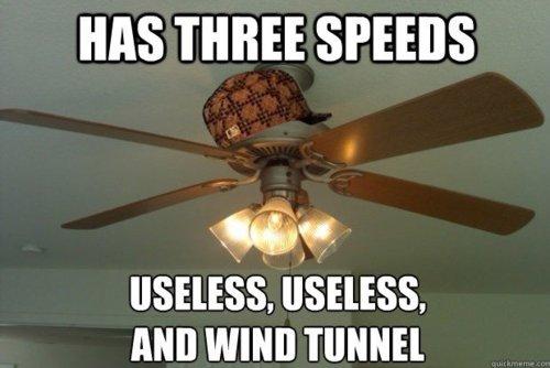 Ceiling fan speeds