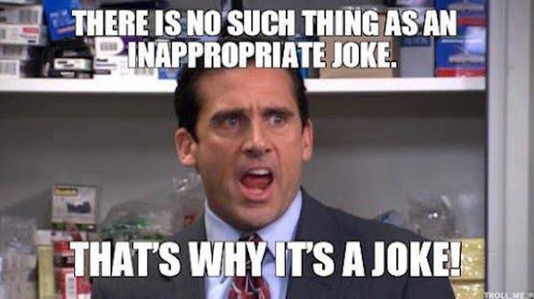 Inappropriate joke