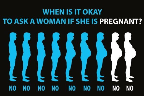 Ask if shes pregnant