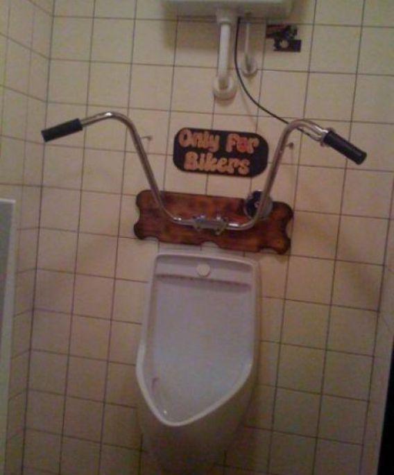 Bikers urinal