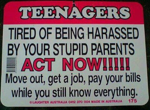 Teenagers take note