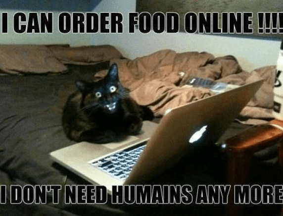 I can order food online