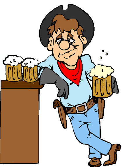 Image result for cartoon pic of a cowboy with 3 beers