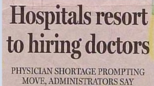 Hospitals ressort to hiring doctors