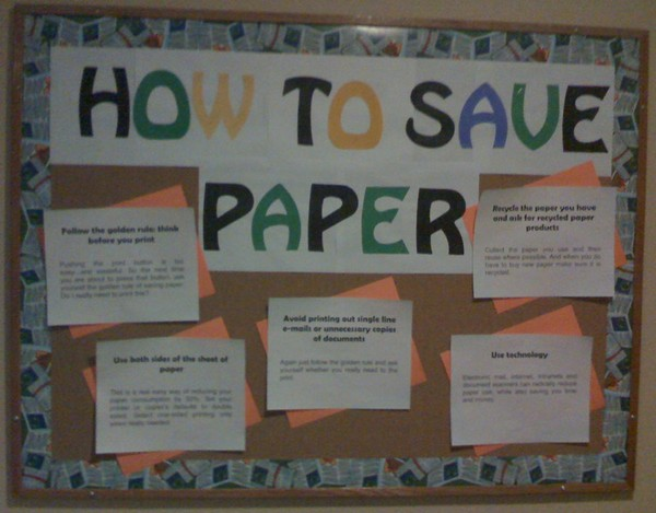 How to save paper