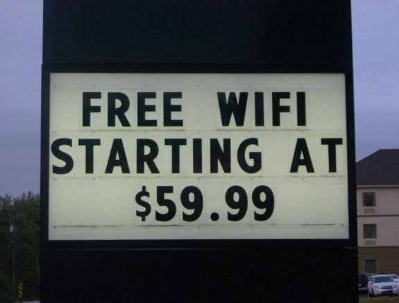 Expensive free wifi