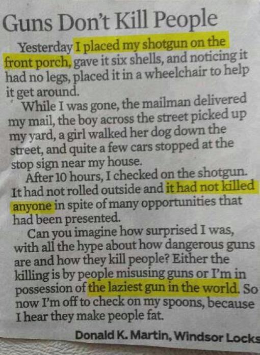 Gunbs don't kill people