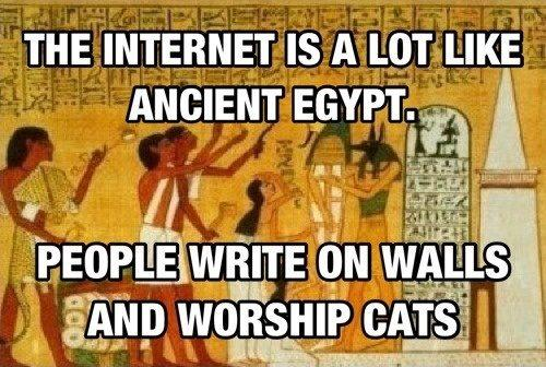 The internet vs ancient egypt