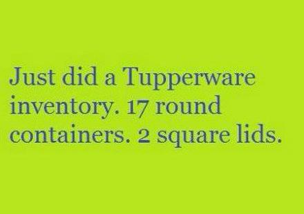 Tupperware inventory
