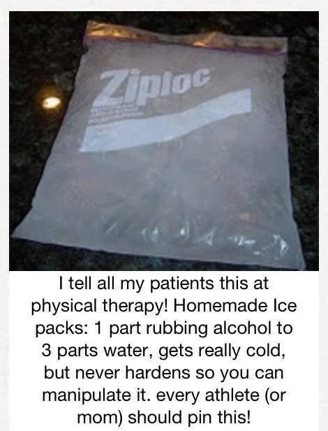 Homemade ice paxck