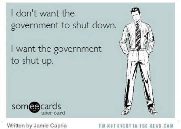 Don't want the gov to shut down