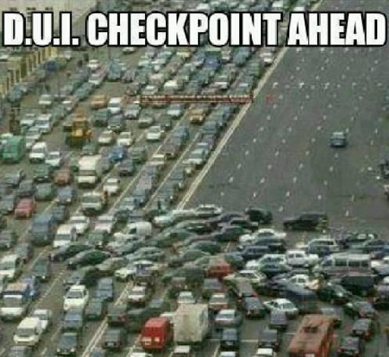 Dui checkpoint ahead