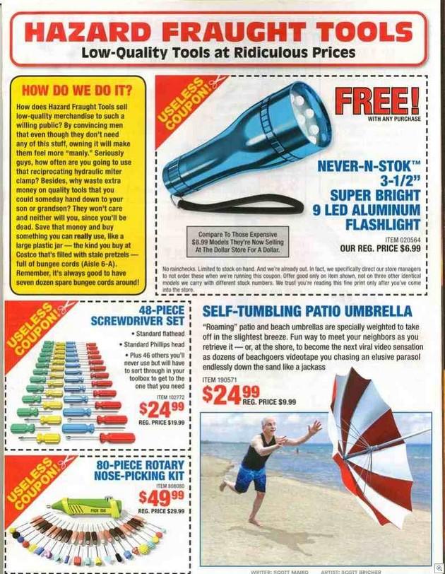 Hazard fraught tools