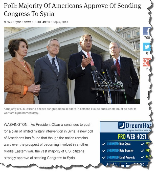 Send congress to syria