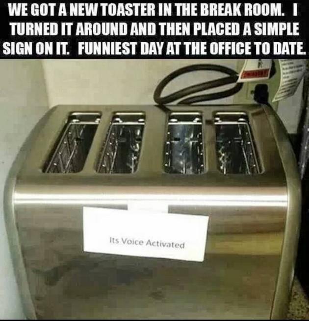 Toaster prank