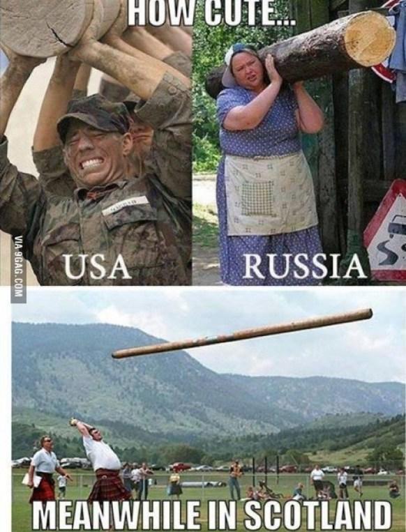 USA vs Russia vs Scotland