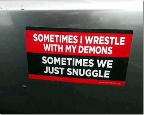 Wrestle with demons