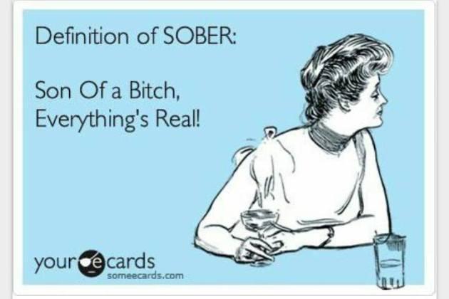 Definition of sober