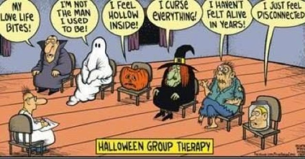 Halloween group therapy
