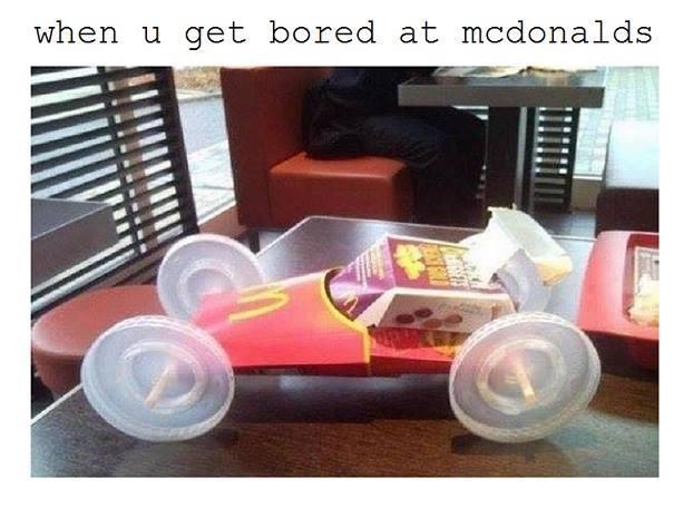 Bored at McDonald's