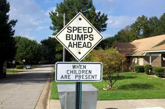 Speed Bumps Ahead