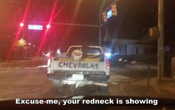 Excuse me redneck